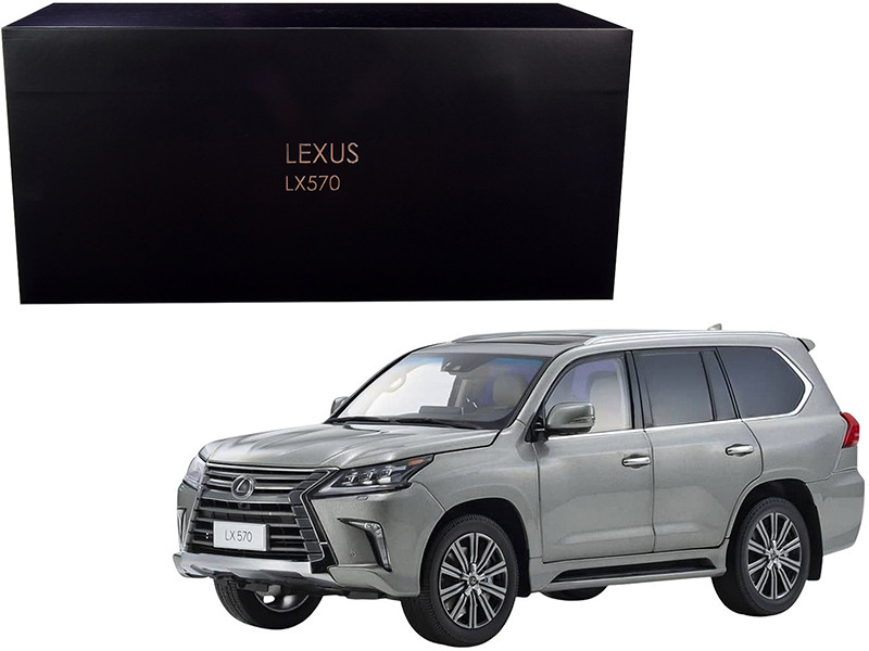 Lexus LX570 Sonic Titanium Gray Metallic 1/18 Diecast Model Car Kyosho 08955