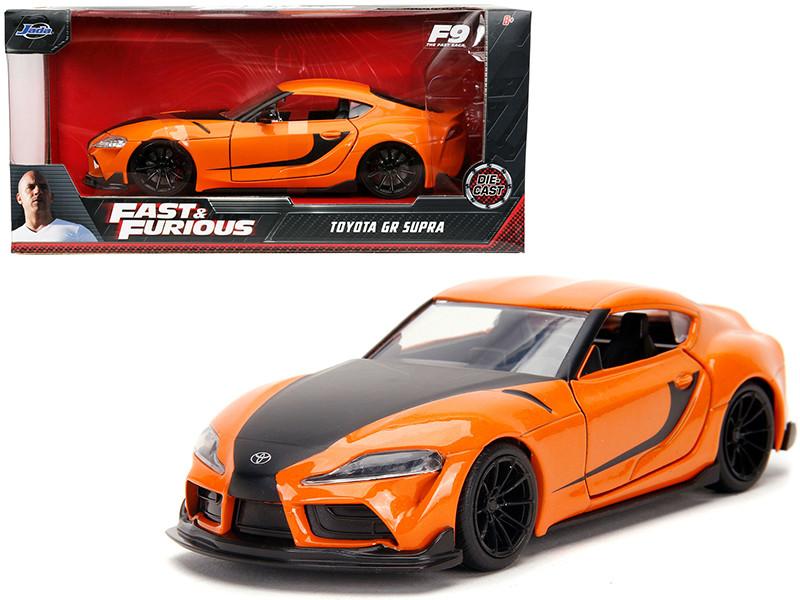 Toyota GR Supra Orange Black Stripes Fast & Furious 9 F9 2021 Movie 1/32 Diecast Model Car Jada 32016