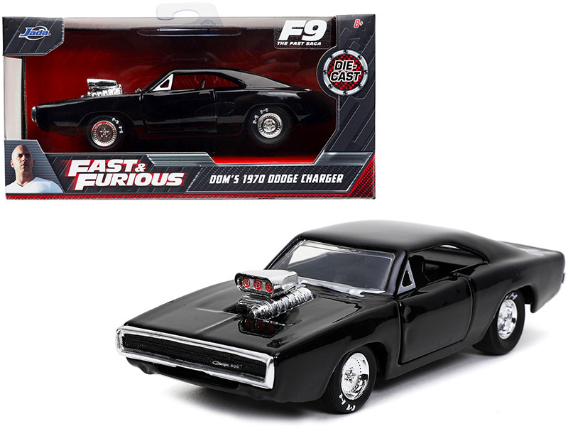 Dom's 1970 Dodge Charger 500 Black Fast & Furious 9 F9 2021 Movie 1/32 Diecast Model Car Jada 32215
