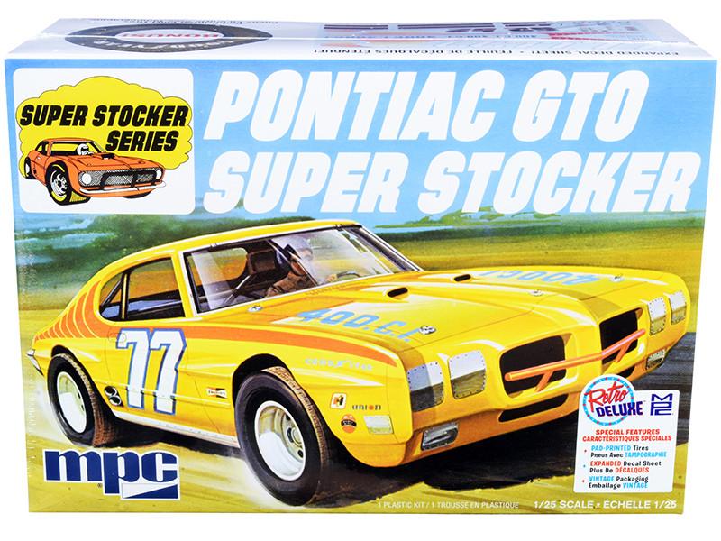 Skill 2 Model Kit 1970 Pontiac GTO Super Stocker 1/25 Scale Model MPC MPC939 M