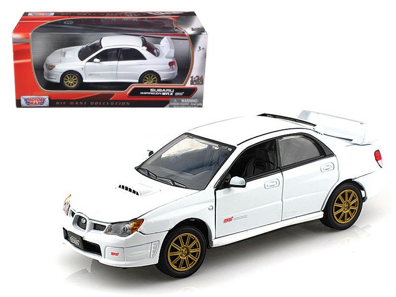 Subaru Impreza WRX STI White 1/24 Diecast Car Model Motormax 73330