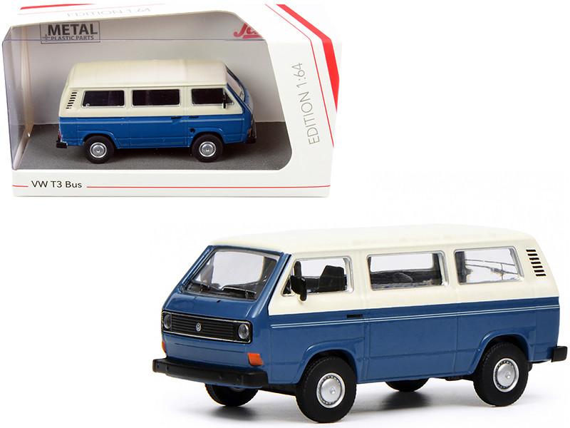 Volkswagen T3 Bus Dark Blue White 1/64 Diecast Model Schuco 452017200