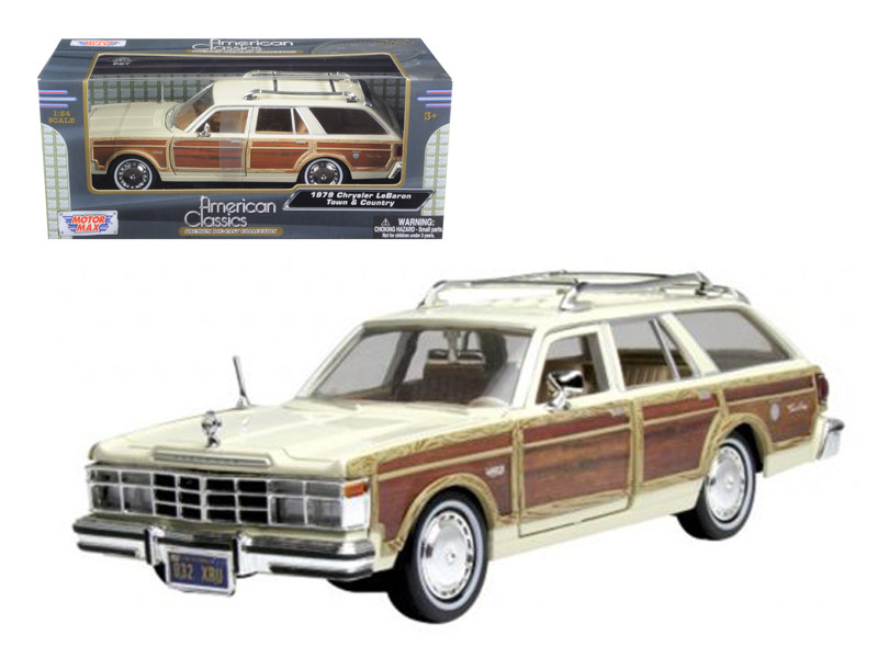 1979 Chrysler Lebaron Town & Country Cream 1/24 Diecast Model Car Motormax 73331