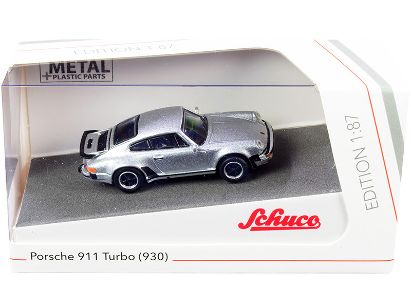 Porsche 911 Turbo 930 Silver 1/87 HO Diecast Model Car Schuco 452656200