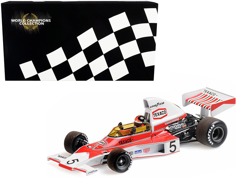 McLaren Ford M23 #5 Emerson Fittipaldi Texaco World Champion 1974 World Champions Collection 1/18 Diecast Model Car Minichamps 186740005