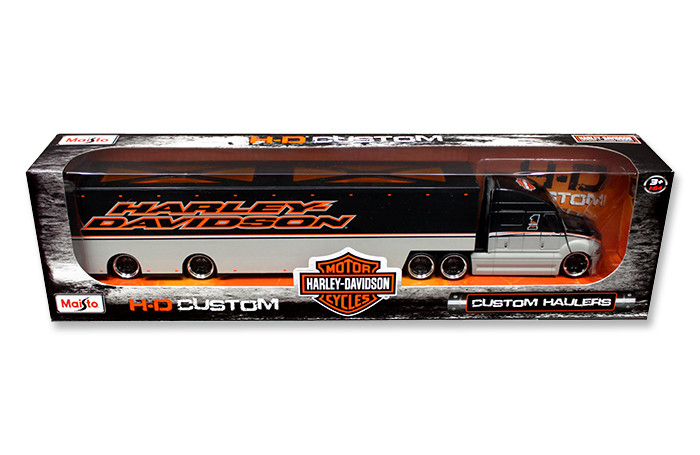 Harley Davidson Custom Hauler Trailer Grey 1/64 Diecast Model Maisto 11516