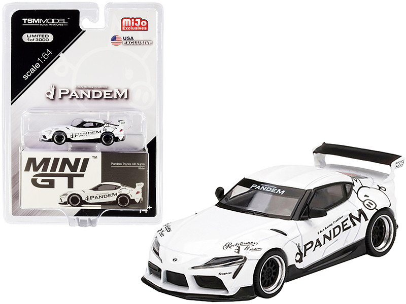 Toyota Pandem GR Supra V1.0 White Limited Edition 3000 pieces Worldwide 1/64 Diecast Model Car True Scale Miniatures MGT00180