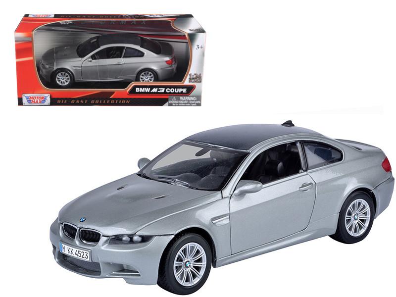 BMW M3 E92 Coupe Gray 1/24 Diecast Model Car Motormax 73347