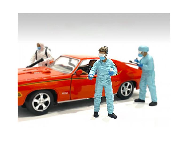 Hazmat Crew Figurine II 1/18 Scale Models American Diorama 76268