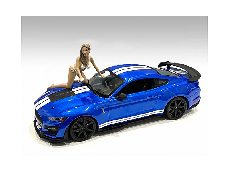 Jenny Bikini Car Wash Girl Figurine 1/24 Scale Models American Diorama 76363