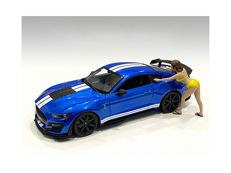 Stephanie Bikini Car Wash Girl Figurine 1/24 Scale Models American Diorama 76366
