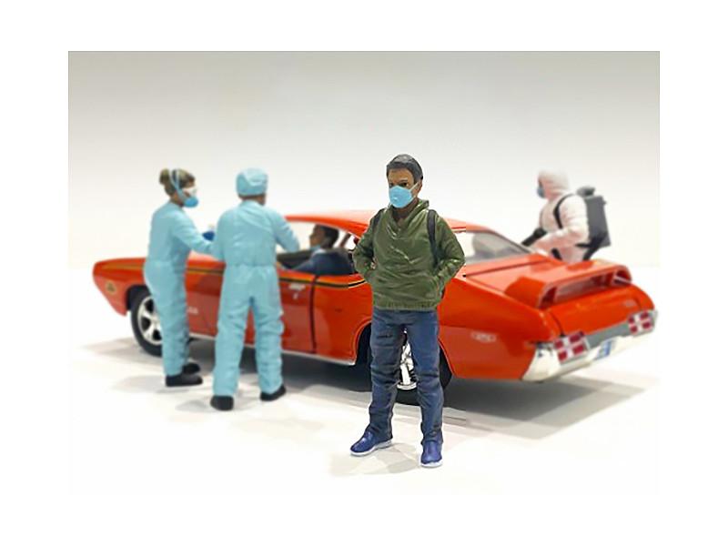 Hazmat Crew Figurine V 1/24 Scale Models American Diorama 76371