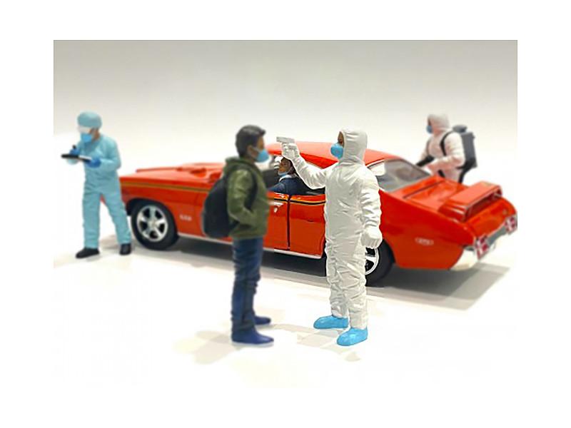 Hazmat Crew Figurine VI 1/24 Scale Models American Diorama 76372