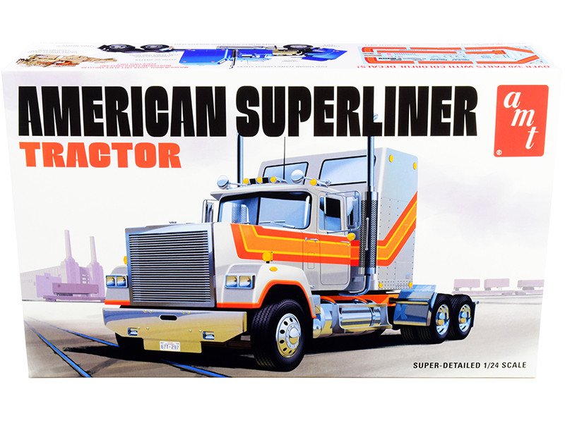 Skill 3 Model Kit American Superliner Semi Tractor 1/24 Scale Model AMT AMT1235