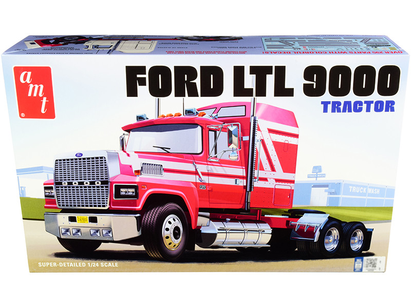 Skill 3 Model Kit Ford LTL 9000 Semi Tractor 1/24 Scale Model AMT AMT1238