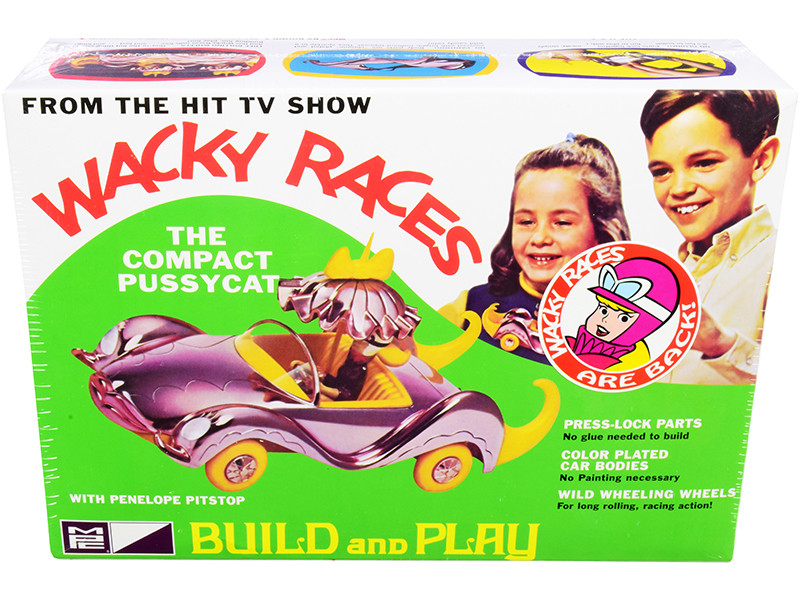 Skill 2 Snap Model Kit The Compact Pussycat Penelope Pitstop Figurine Wacky Races 1968 TV Series 1/25 Scale Model MPC MPC934