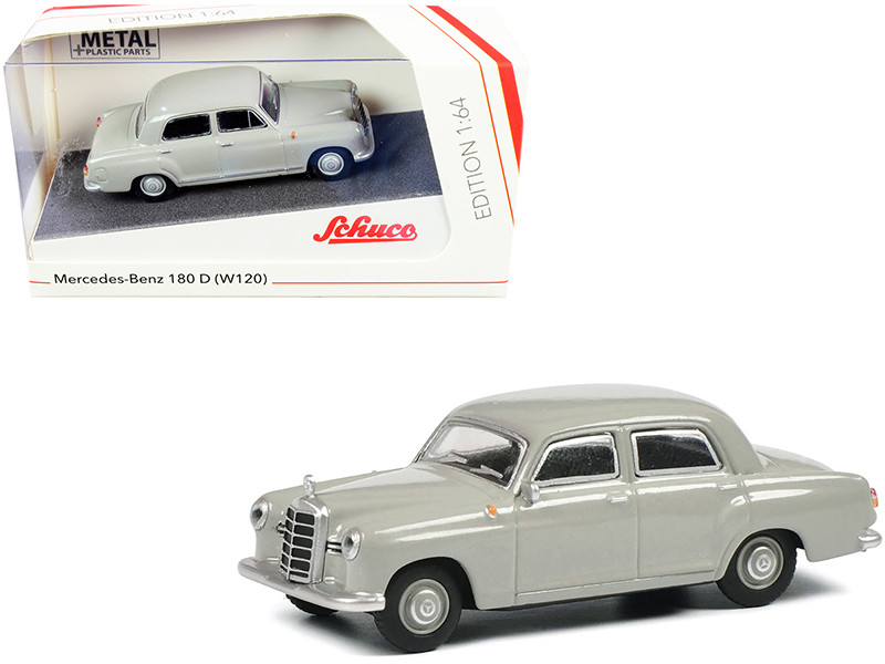 Mercedes Benz 180 D W120 Ponton Gray 1/64 Diecast Model Car Schuco 452022100