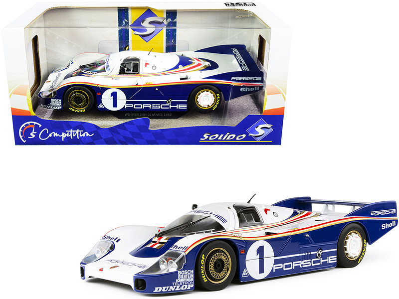 Porsche 956LH RHD Right Hand Drive #1 Jacky Ickx Derek Bell Winner 24H Le Mans 1982 Competition Series 1/18 Diecast Model Car Solido S1805501