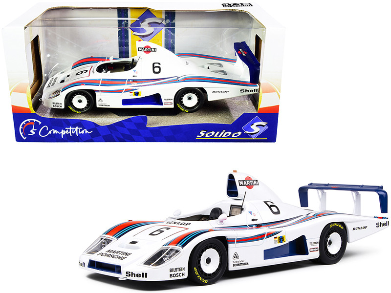 Porsche 936 #6 Bob Wollek Jurgen Barth Jacky Ickx 2nd Place Martini Racing Porsche System 24H Le Mans 1978 Competition Series 1/18 Diecast Model Car Solido S1805601
