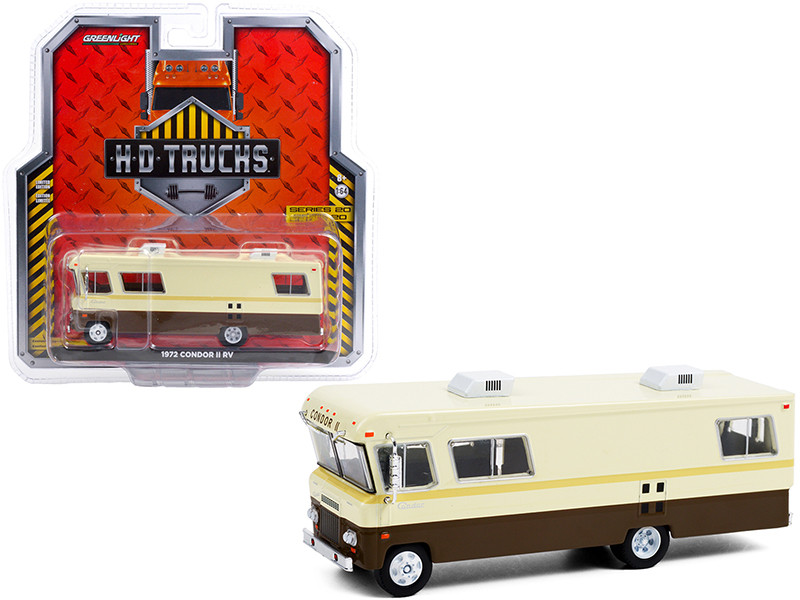 1972 Condor II RV Beige Brown HD Trucks Series 20 1/64 Diecast Model Greenlight 33200 B