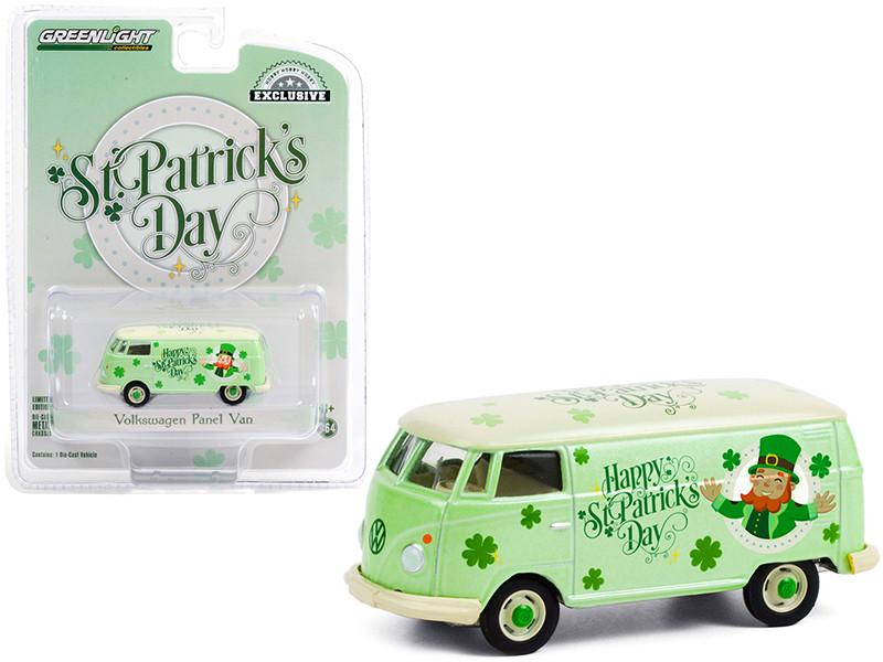 Volkswagen Panel Van St. Patrick's Day 2021 Hobby Exclusive 1/64 Diecast Model Greenlight 30252