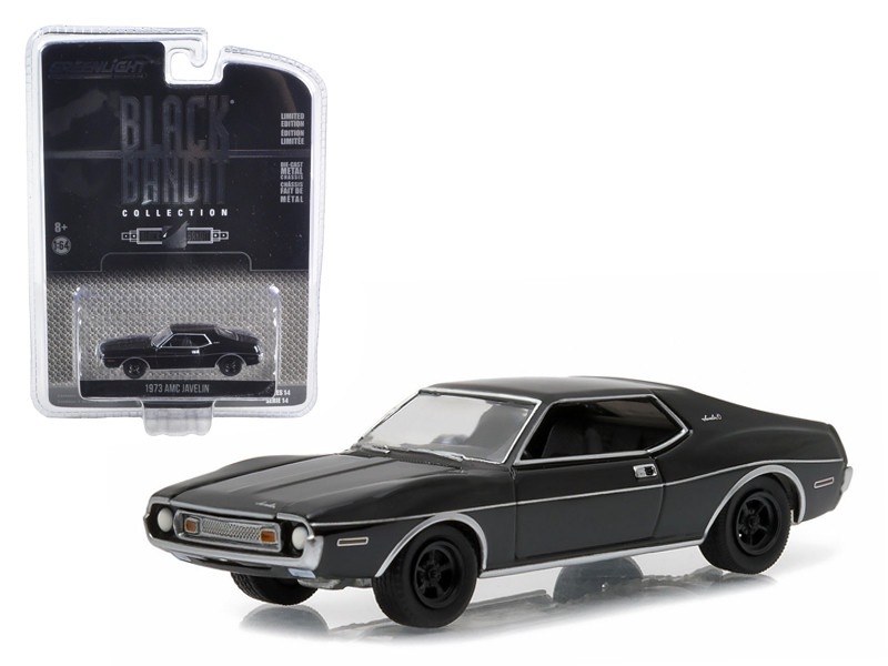 1973 AMC Javelin Black Bandit 1/64 Diecast Model Car Greenlight 27840 B