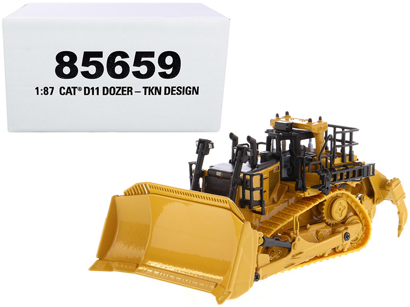 CAT Caterpillar D11 Track-Type Tractor Dozer TKN Design High Line Series 1/87 HO Scale Diecast Model Diecast Masters 85659