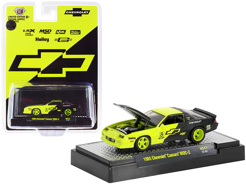 1985 Chevrolet Camaro IROC-Z #8 Shock Green Black Limited Edition 5786 pieces Worldwide 1/64 Diecast Model Car M2 Machines 31500-HS17