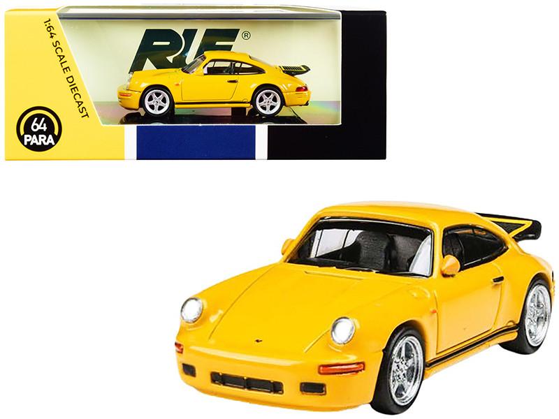 1987 RUF CTR Yellowbird Blossom Yellow 1/64 Diecast Model Car Paragon PA-55291