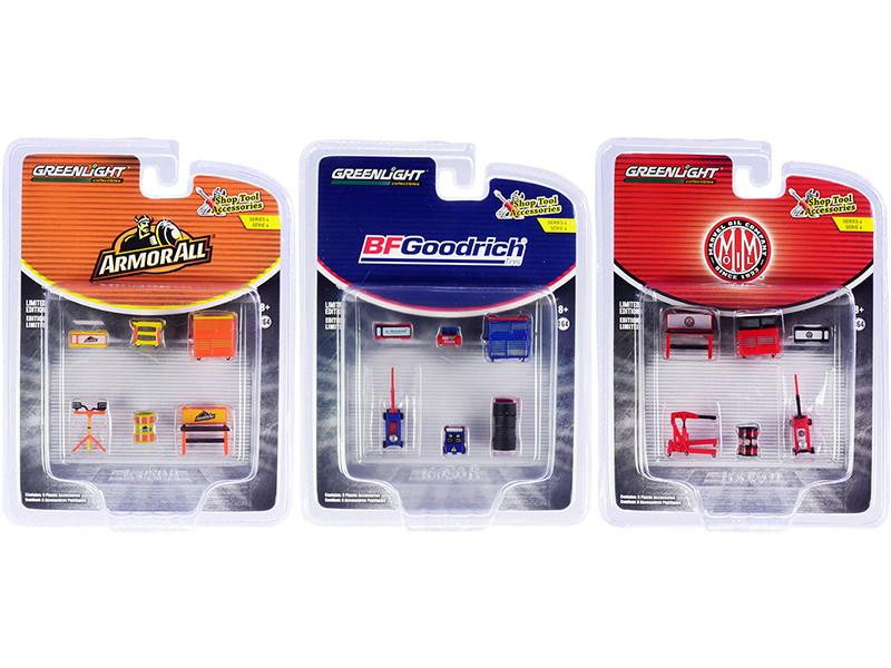 Shop Tool Accessories Set of 3 Multipacks Series 4 1/64 Models Greenlight 16080