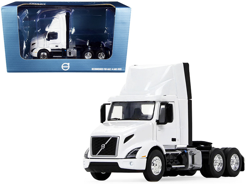 Volvo VNR 300 Day Cab Roof Fairing Truck Tractor White 1/50 Diecast Model First Gear 50-3459