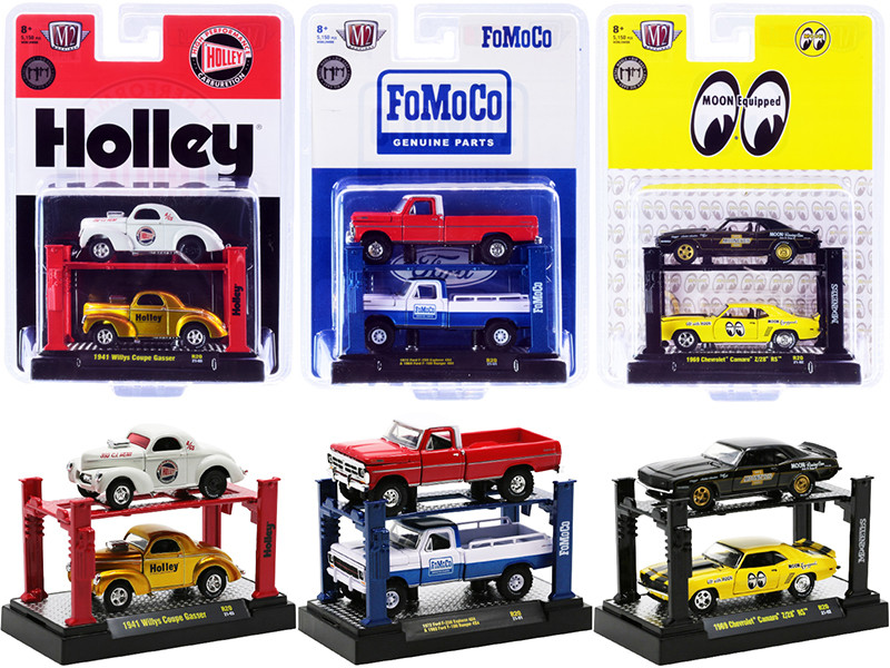 Auto Lifts Set of 6 pieces Series 20 Limited Edition 5150 pieces Worldwide 1/64 Diecast Model Cars M2 Machines 33000-20