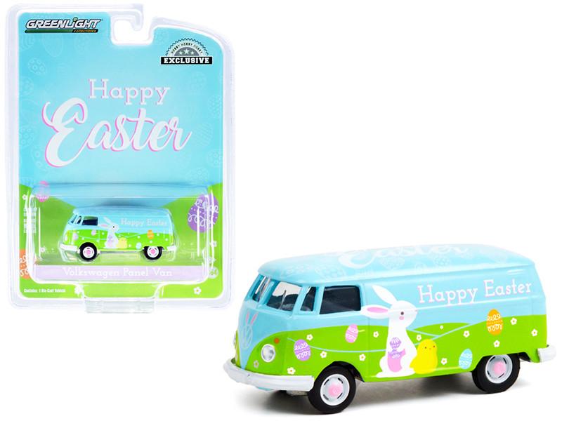 Volkswagen Panel Van Happy Easter 2021 Hobby Exclusive 1/64 Diecast Model Greenlight 30253