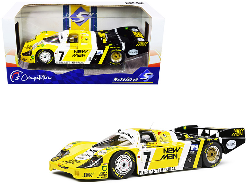 Porsche 956LH RHD Right Hand Drive #7 Pescarolo Ludwig Johansson New-Man Winner 24H Le Mans 1984 Competition Series 1/18 Diecast Model Car Solido S1805502