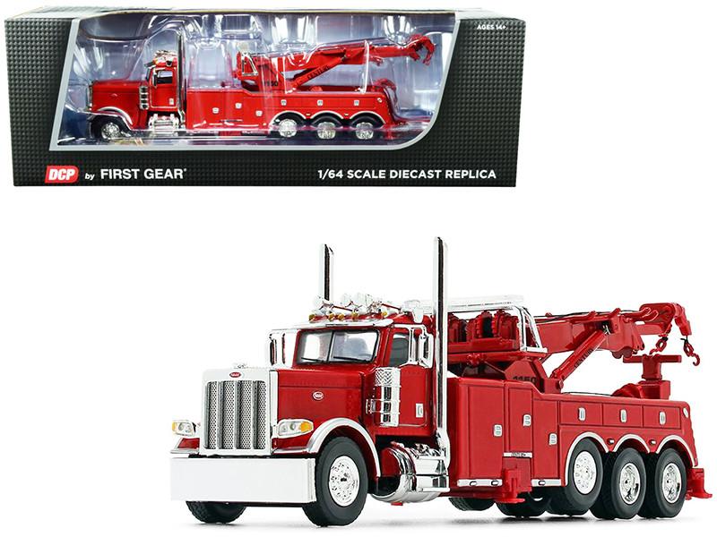 Peterbilt 389 Century 1150 Rotator Wrecker Tow Truck Viper Red 1/64 Diecast Model DCP First Gear 60-0881A