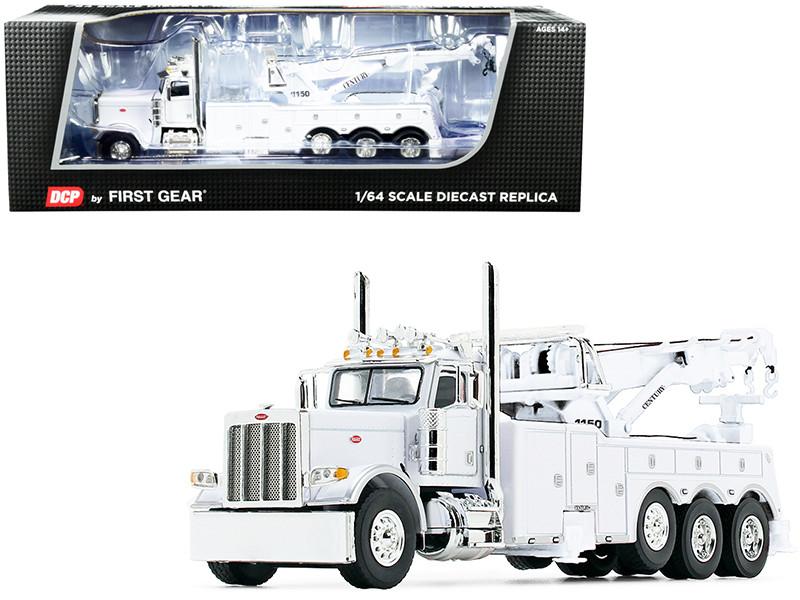Peterbilt 389 Century 1150 Rotator Wrecker Tow Truck White 1/64 Diecast Model DCP First Gear 60-1040