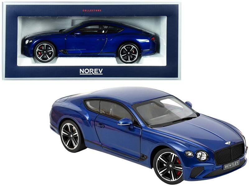 2018 Bentley Continental GT Sequin Blue Metallic 1/18 Diecast Model Car Norev 182787