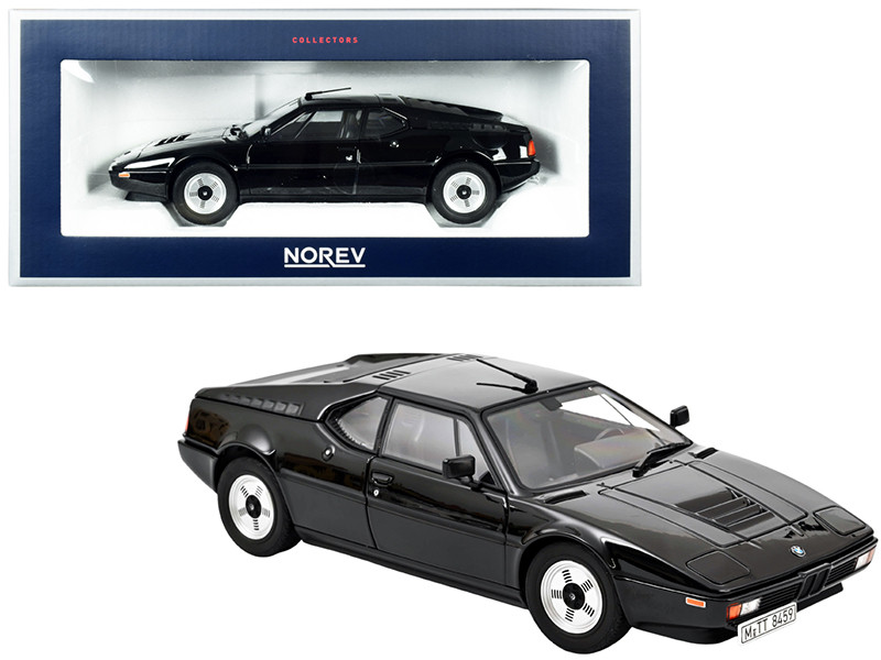 1980 BMW M1 Black 1/18 Diecast Model Car Norev 183225