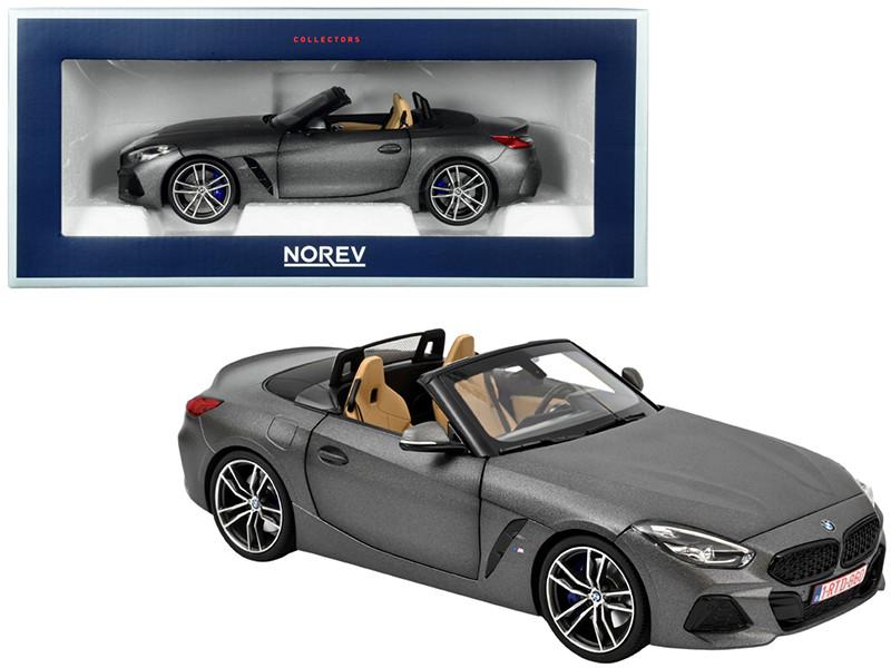 2018 BMW Z4 Convertible Matt Dark Gray Metallic 1/18 Diecast Model Car Norev 183270