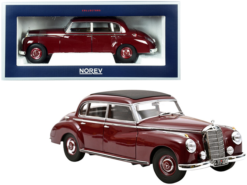 1955 Mercedes Benz 300 Dark Red Black Top 1/18 Diecast Model Car Norev 183705