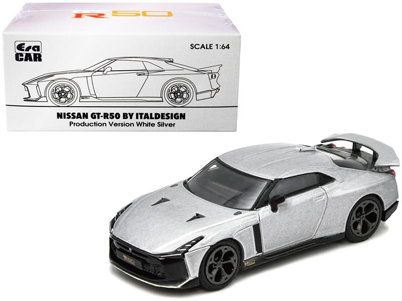 Nissan GT-R50 Italdesign White Silver 1/64 Diecast Model Car Era Car NS21GTRSP50