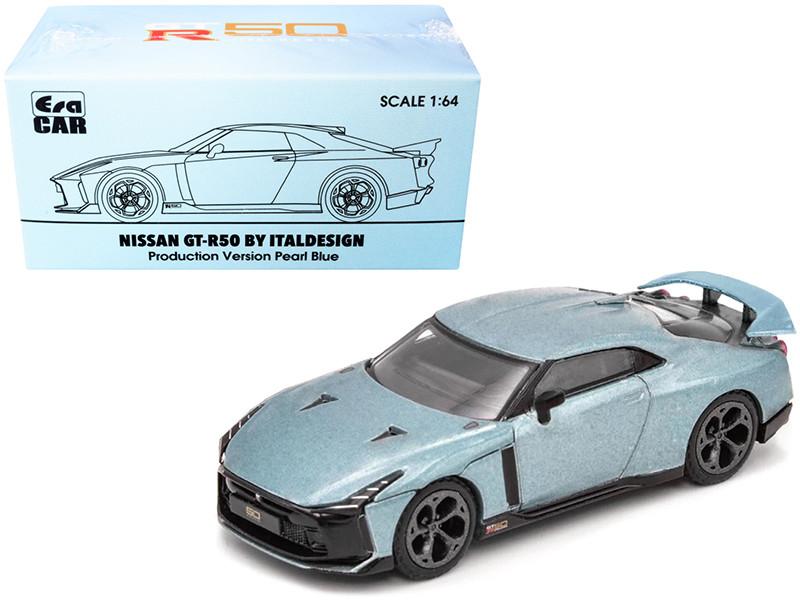 Nissan GT-R50 Italdesign Pearl Blue 1/64 Diecast Model Car Era Car NS21GTRSP51