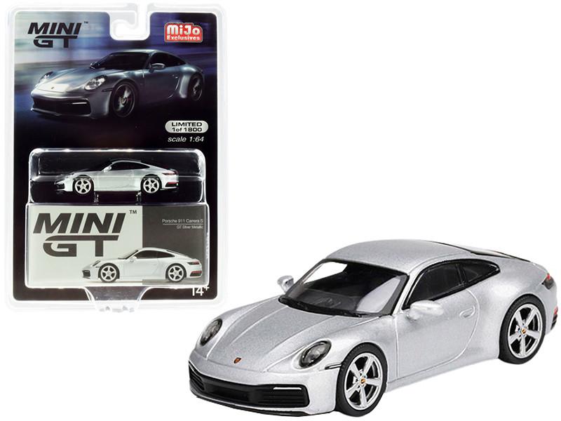 Porsche 911 Carrera S GT Silver Metallic Limited Edition 1800 pieces Worldwide 1/64 Diecast Model Car True Scale Miniatures MGT00210
