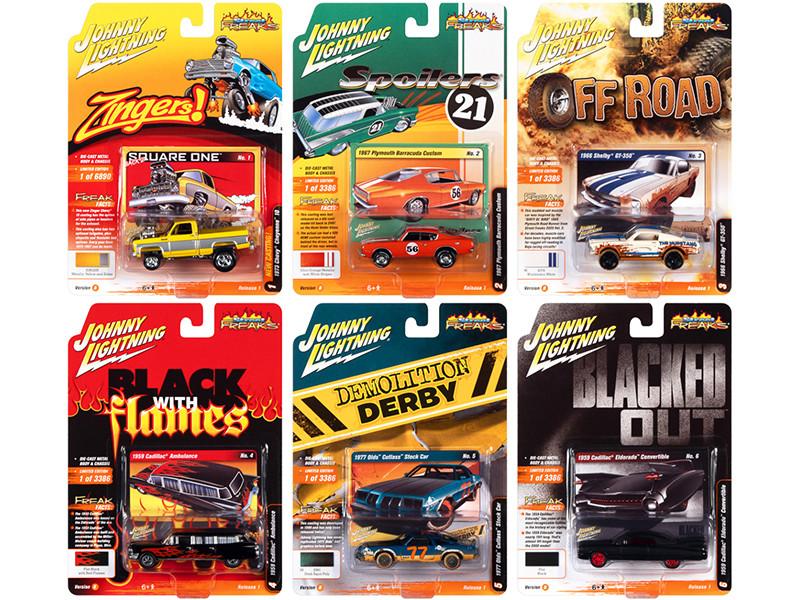 Street Freaks 2021 Set B of 6 Cars Release 1 1/64 Diecast Model Cars Johnny Lightning JLSF019 B