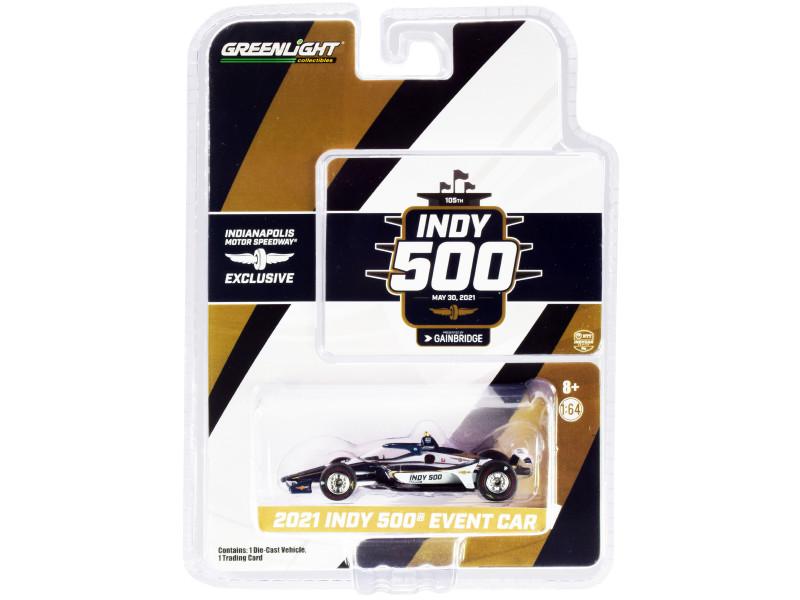 Dallara IndyCar Event Car 105th Running Indianapolis 500 2021 1/64 Diecast Model Car Greenlight 11508
