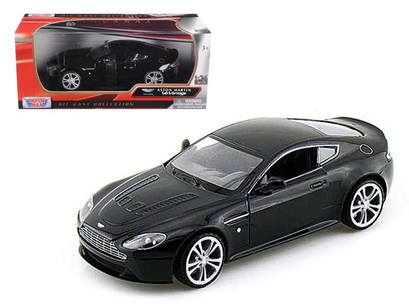 Aston Martin V12 Vantage Black 1/24 Diecast Car Model Motormax 73357