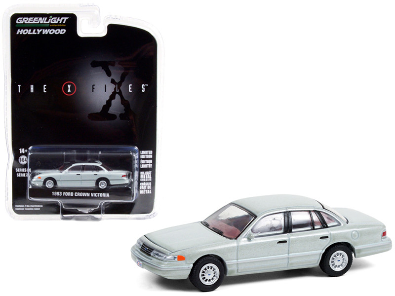 1993 Ford Crown Victoria Light Green Washington D.C. Unmarked Agent Car The X-Files 1993 2002 TV Series Hollywood Series Release 31 1/64 Diecast Model Car Greenlight 44910 E