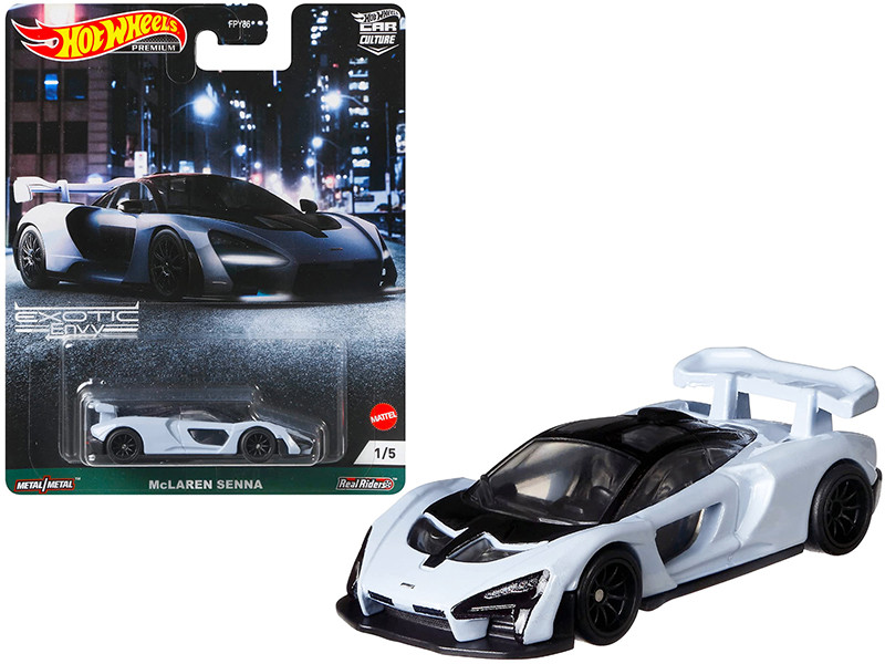McLaren Senna Light Blue Exotic Envy Series Diecast Model Car Hot Wheels GRJ78