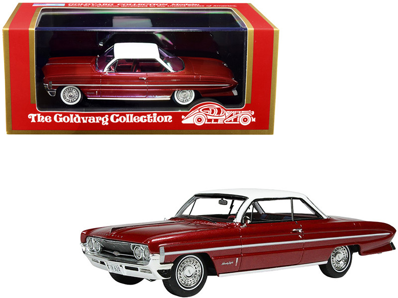 1961 Oldsmobile Bubble Top Red Metallic White Top Limited Edition 235 pieces Worldwide 1/43 Model Car Goldvarg Collection GC-020 A
