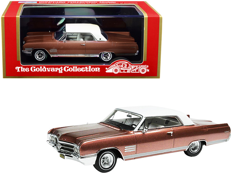 1964 Buick Wildcat Dark Coral Mist Metallic White Top Limited Edition 220 pieces Worldwide 1/43 Model Car Goldvarg Collection GC-028 A